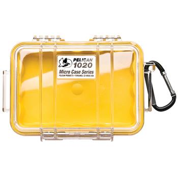 Clear Pelican 1020 Micro Case with Yellow Liner