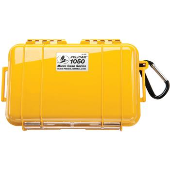 Yellow Pelican 1050 Micro Case with Black Liner