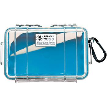 Clear Pelican 1050 Micro Case with Blue Liner