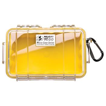 Clear Pelican 1050 Micro Case with Yellow Liner