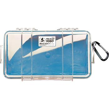 Clear Pelican 1060 Micro Case with Blue Liner