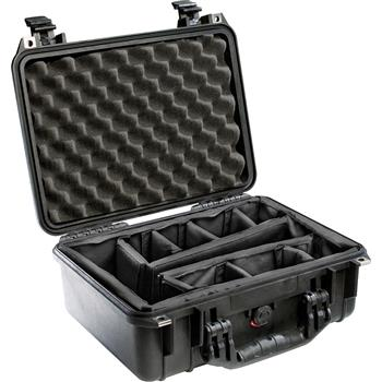 Black Pelican 1450 Case with Padded Dividers