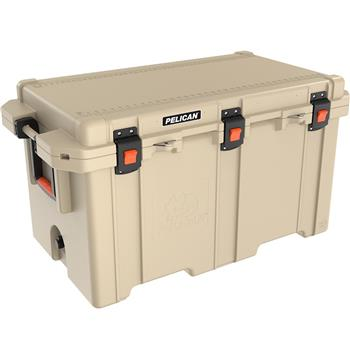 Tan Pelican 150 Quart Elite Cooler
