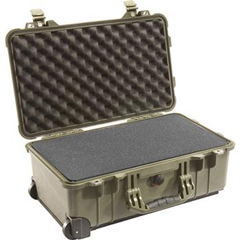 Olive Drab Pelican 1510 Carry On Case with Foam