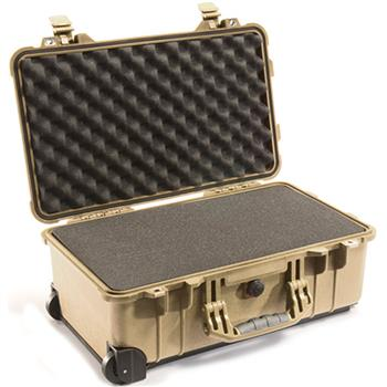 Desert Tan Pelican 1510 Carry On Case with Foam