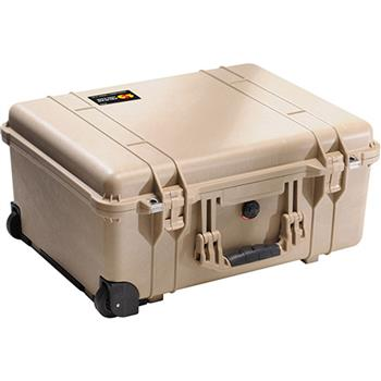 Desert Tan Pelican 1560 Case with No Foam