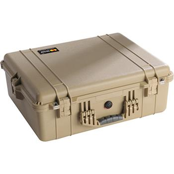 Desert Tan Pelican 1600 Case with No Foam