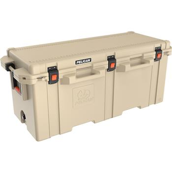 Tan Pelican 250 Quart Elite Cooler