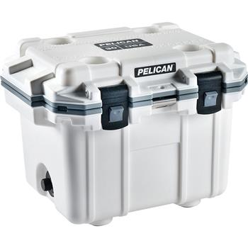 Pelican™ Cooler 30 Quart Elite Cooler White with Gray Trim