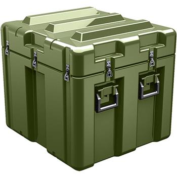 Olive Drab Pelican AL2624-1805 Single Lid Cube Case with Foam and Casters