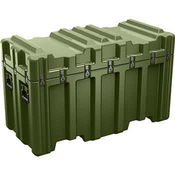 Olive Drab Pelican AL5424-2306 Single Lid Case - No Foam with Casters