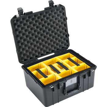 Black Pelican™ 1557 Air Case with padded dividers