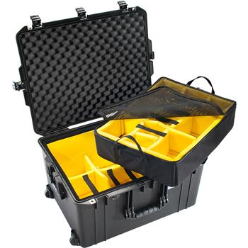 Black Pelican™ 1637 Air Case with Padded Dividers