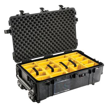 Black Pelican™ 1670 Case with padded dividers