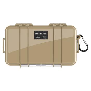 Desert Tan Pelican™ 1060 Micro Case with black liner