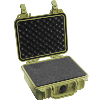 Olive Drab Pelican 1200 Case with Foam
