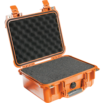 Orange Pelican 1400 Case with Foam
