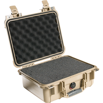 Desert Tan Pelican 1400 Case with Foam