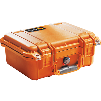 Orange Pelican 1400 Case with No Foam