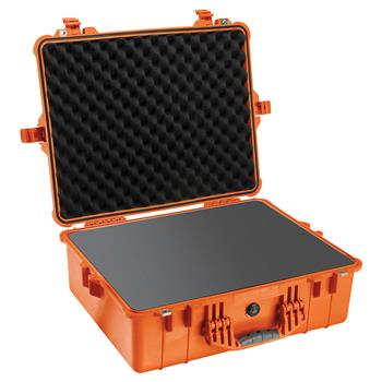Orange Pelican 1600 Case with Foam