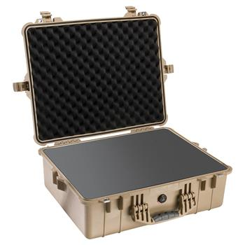 Desert Tan Pelican 1600 Case with Foam