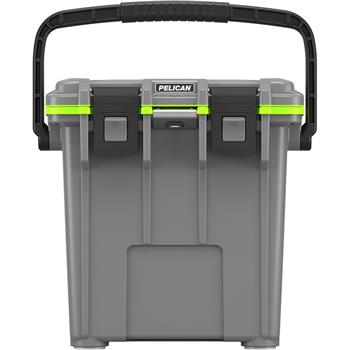 Dark Gray Pelican™ 20 Qt Elite Cooler with Green Trim