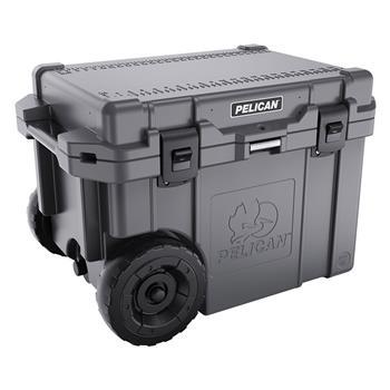 45 Qt Elite Cooler with Wheels - Dark Grey