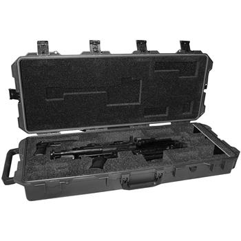Black Pelican™ iM3100 Case w/Custom Foam for 1ea M249 Para Machine Gun